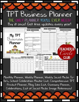 TPT Business Planner {Teachers Circle Club Item!} **NEWLY UPDATED**