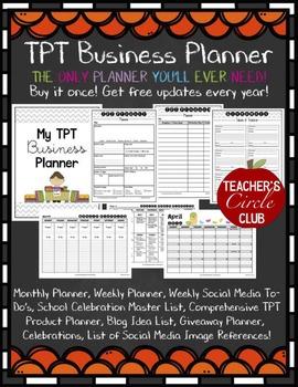 TPT Business Planner {Teachers Circle Club Item!} **NEWLY