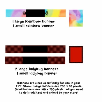 TPT Banners - Colorful - Commercial Use