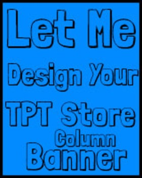 TPT Column Store Banner - Teachers Pay Teachers Column Store Banner Full Design