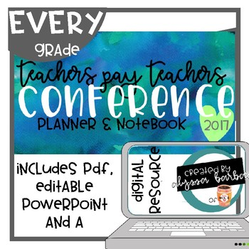 TPT Conference Planner & Notebook 2017