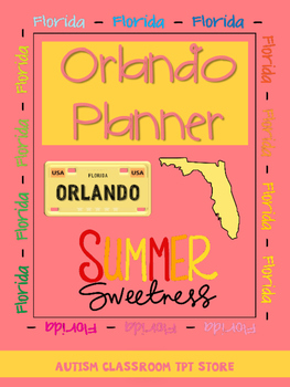 TPT Conference Planner Orlando 2016 (By: Autism Classroom)