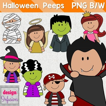 TPT Cover Peeps: Halloween Clip Art Kids