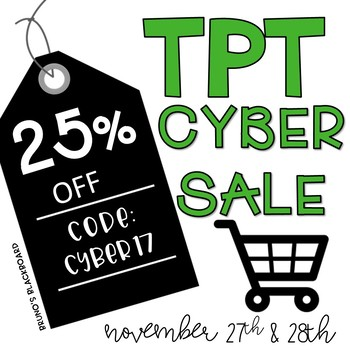 TPT Cyber Sale 2017 Store Banners & Square Promotion