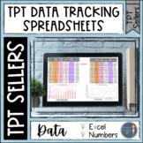 TPT Seller Data Tracking Spreadsheets
