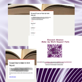 TPT Excused Absence Make-Up Work Request Form with QR Code Integration