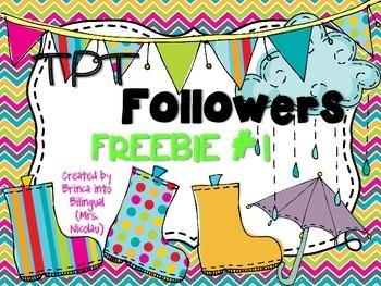 TPT Followers FREEBIE #1