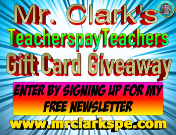 Mr. Clark's Physical Education Store TPT Gift Card Giveaway