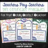 TPT Gift Certificate Holder