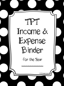 TPT Income & Expense Binder