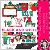 TPT Nashville Conference clip art 2018 - BLACK AND WHITE - by Melonheadz