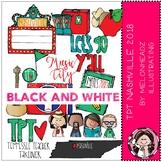 TPT Nashville Conference clip art 2018 - BLACK AND WHITE - Melonheadz Clipart