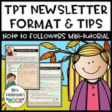 TPT Newsletter Format & Tips