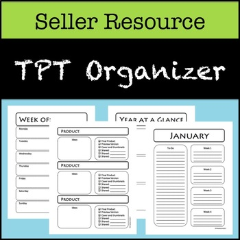 TPT Organizers for Sellers