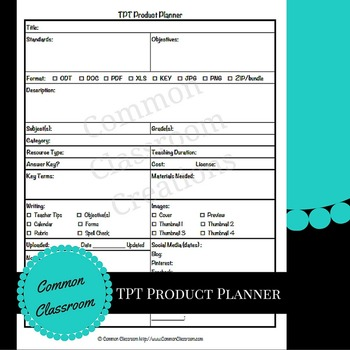 TPT Product Planning Tool