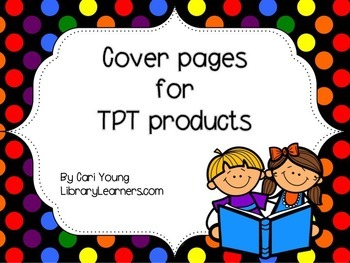TPT Product Polka Dot Cute Reader Cover Pages