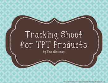 TPT Product Tracking/Item Status - Monthly