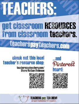 TPT Promotional Poster for Your TPT Store!