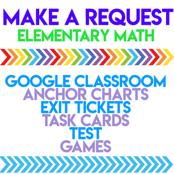 TPT Request Form- Elementary Math