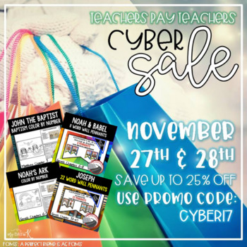 TPT Sale, Cyber17, LL Bible History Resources on Sale, 25% OFF