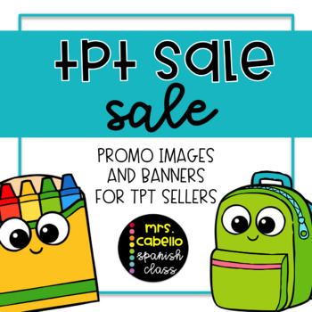 TPT Sale Social Media Promo and Banners