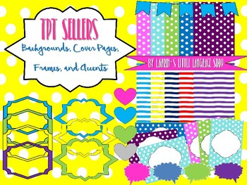 TPT Seller Backgrounds, Cover Pages, Accents, and Frames