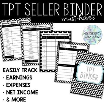 TPT Seller Binder Must-Haves