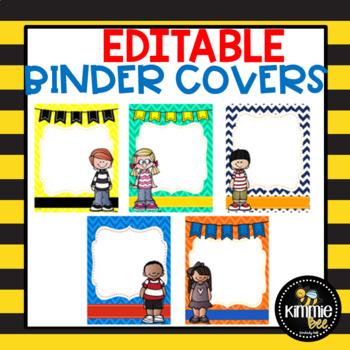editable teacher binder cover by kimmie bee teachers pay teachers