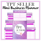 TPT Seller Mini Planner- Marketing and Sales Goals