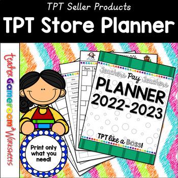 TPT Seller Planner 2016-2017