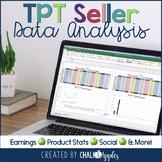 TPT Seller Data Analysis & Planner - Editable Excel Files