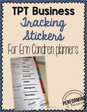 TPT Seller Planner Page for Erin Condren Life Planner - Editable