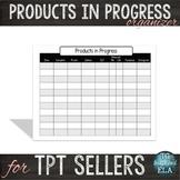 TPT Seller Product Posting Progress Chart