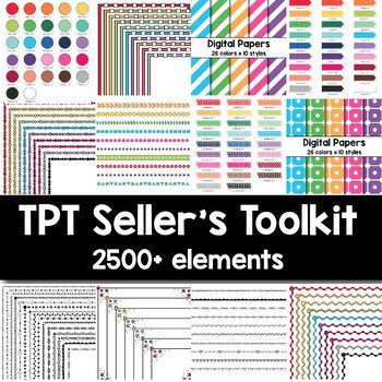 TPT Seller's Toolkit (2500+ elements)