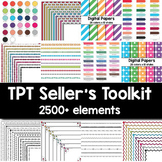 TPT Seller's Toolkit (2500+ items) Digital Papers, Background Paper, Page Border