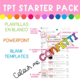 TPT Starter Pack - Plantillas PPT Templates - Colour me Confetti