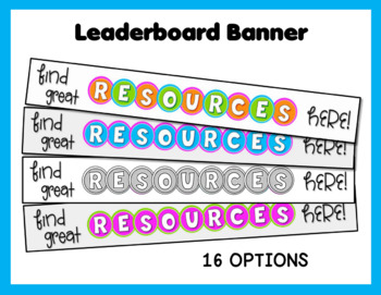 TPT Rotating Store Banner Set - CIRCLES