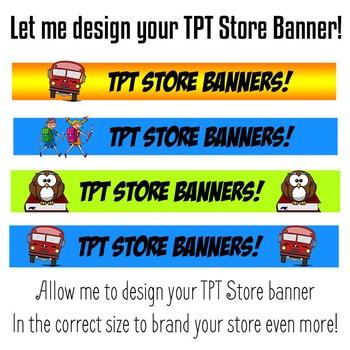 TPT Store Banner - Teachers Pay Teachers Store Banner Full Design