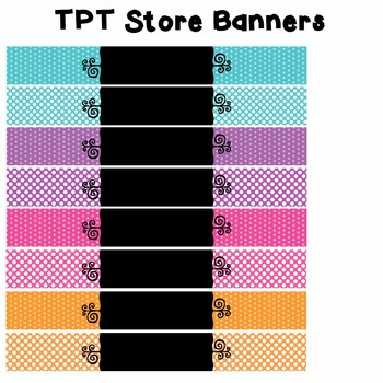 TPT Banners - Polka Dots -  Commercial Use