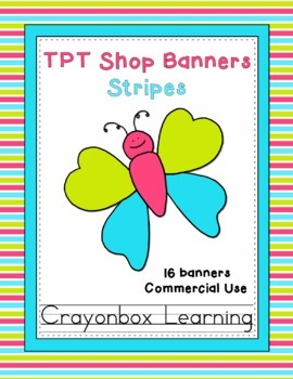 TPT Banners - Stripes - Commercial Use