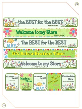 TPT Store Leaderboard matching Column Banners - May/ Spring THEME