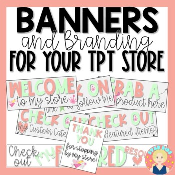 TPT Store Rotating Animated Quote Box |   Store Banner |   Logo | Column Banner