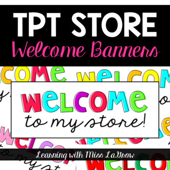 TPT Store Welcome Quote Banners