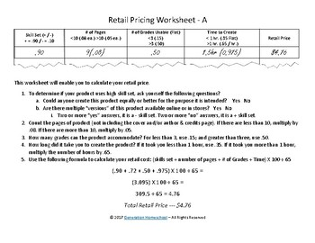 TPT Store Workbook and Pricing Tool