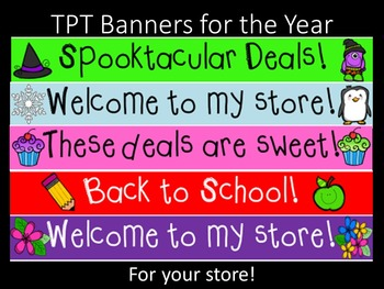 TPT Store banners for the year!