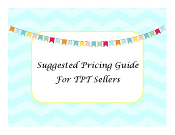 TPT Suggested Pricing Guide
