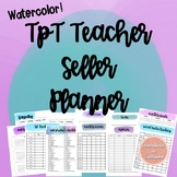 TPT Teacher Seller Planner - Watercolor
