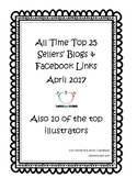 TPT Top 25 Sellers Blogs & Facebook Links - 2017