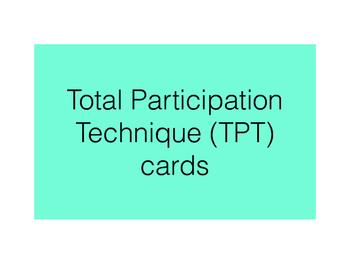 TPT (Total Participation Technique) Cards