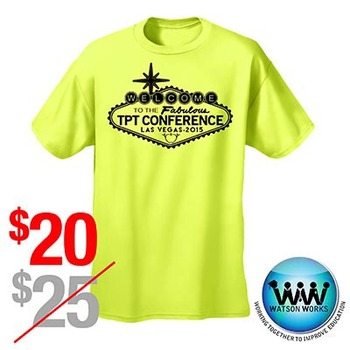 TPT Vegas Conference 2015 T-shirt Neon Yellow ~ SIZE S